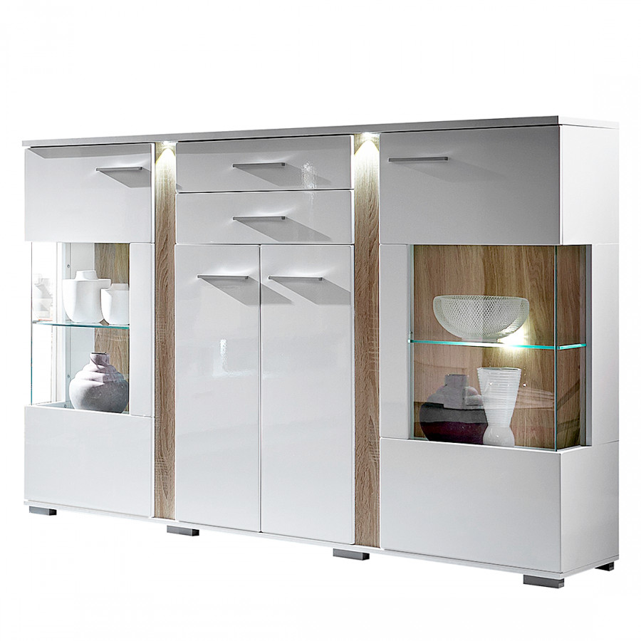 highboard borger inklusive beleuchtung home24. Black Bedroom Furniture Sets. Home Design Ideas