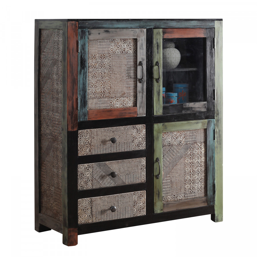 highboard goa ii akazie mango teilmassiv home24. Black Bedroom Furniture Sets. Home Design Ideas