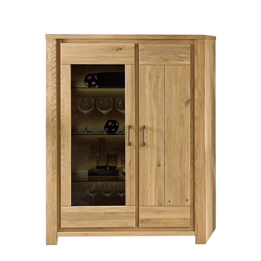highboard oakland i eiche massiv home24. Black Bedroom Furniture Sets. Home Design Ideas