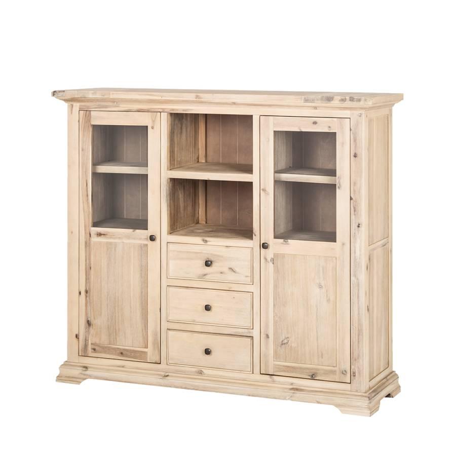 buffet romantique acacia partiellement massif. Black Bedroom Furniture Sets. Home Design Ideas