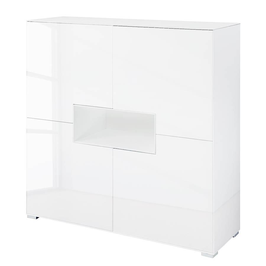 highboard selma iii wei hochglanz home24. Black Bedroom Furniture Sets. Home Design Ideas