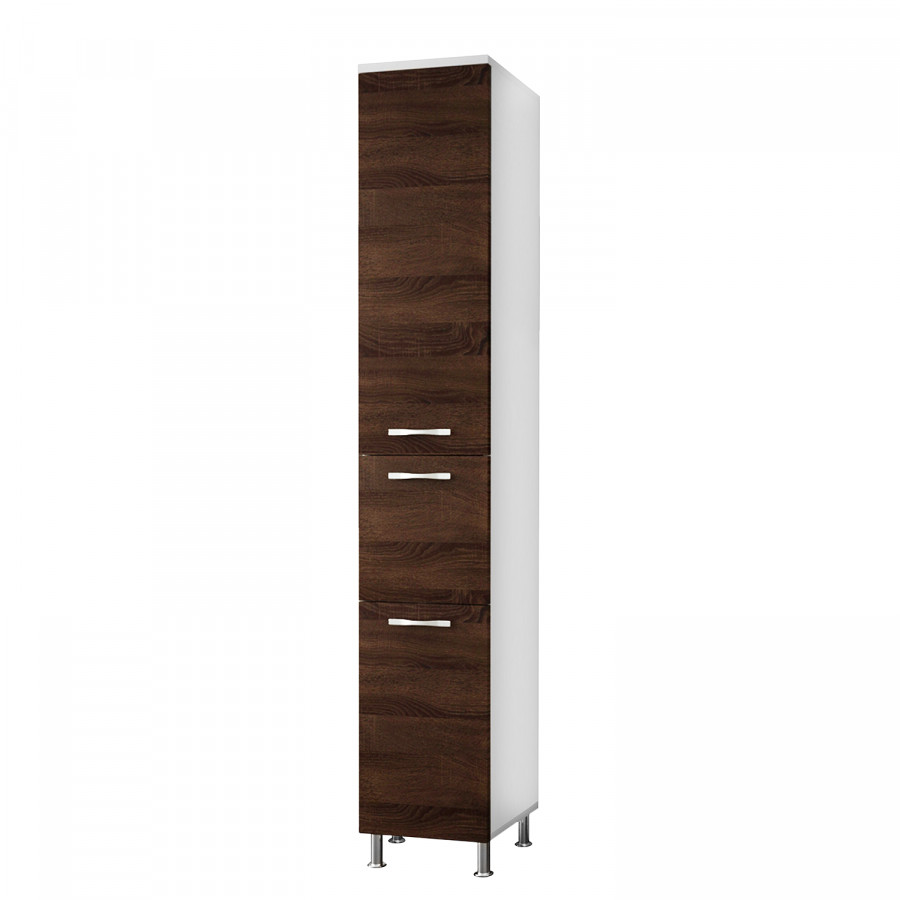 hochschrank nexa eiche sonoma dunkel wei. Black Bedroom Furniture Sets. Home Design Ideas