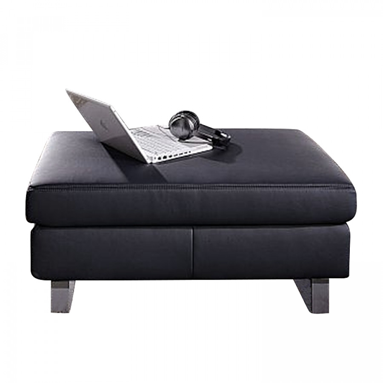 hocker johanna kunstleder schwarz home24. Black Bedroom Furniture Sets. Home Design Ideas