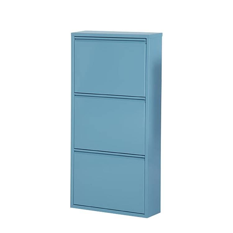 Schuhschrank cabinet blau home24 for Schuhschrank home24