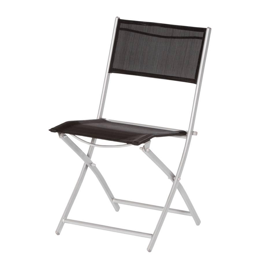 Chaise pliante florenz lot de 2 acier tissu - Chaise pliante tissu ...