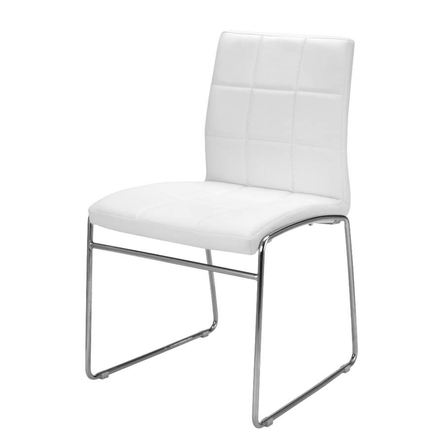 Chaise de salle manger cube lot de 4 imitation cuir - Chaise imitation cuir ...