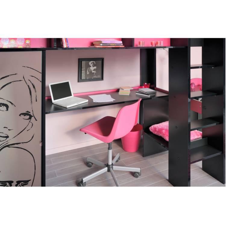 jugendzimmer set princessa 2 teilig schwarz kaufen home24. Black Bedroom Furniture Sets. Home Design Ideas