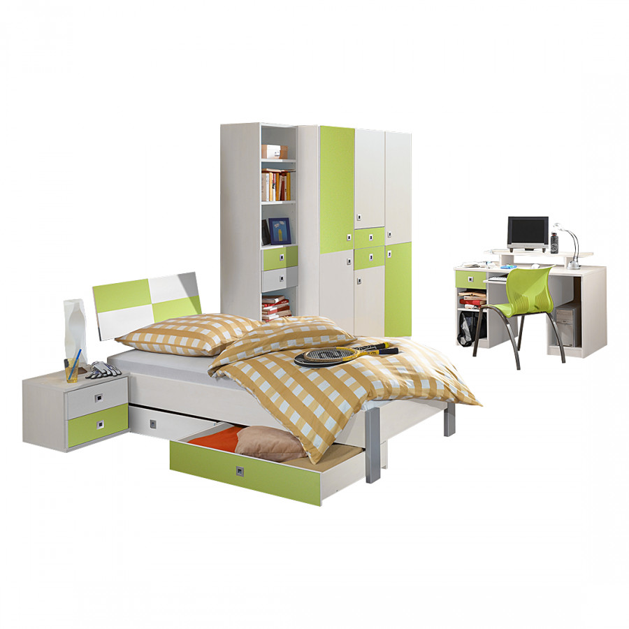 Ensemble de chambre d 39 adolescent sunny 4 l ments for Ensemble mobilier chambre