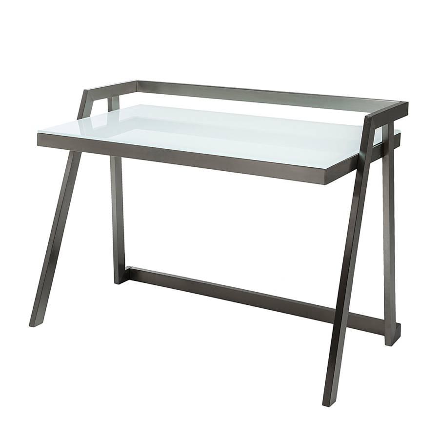 schreibtisch flow metall glas. Black Bedroom Furniture Sets. Home Design Ideas