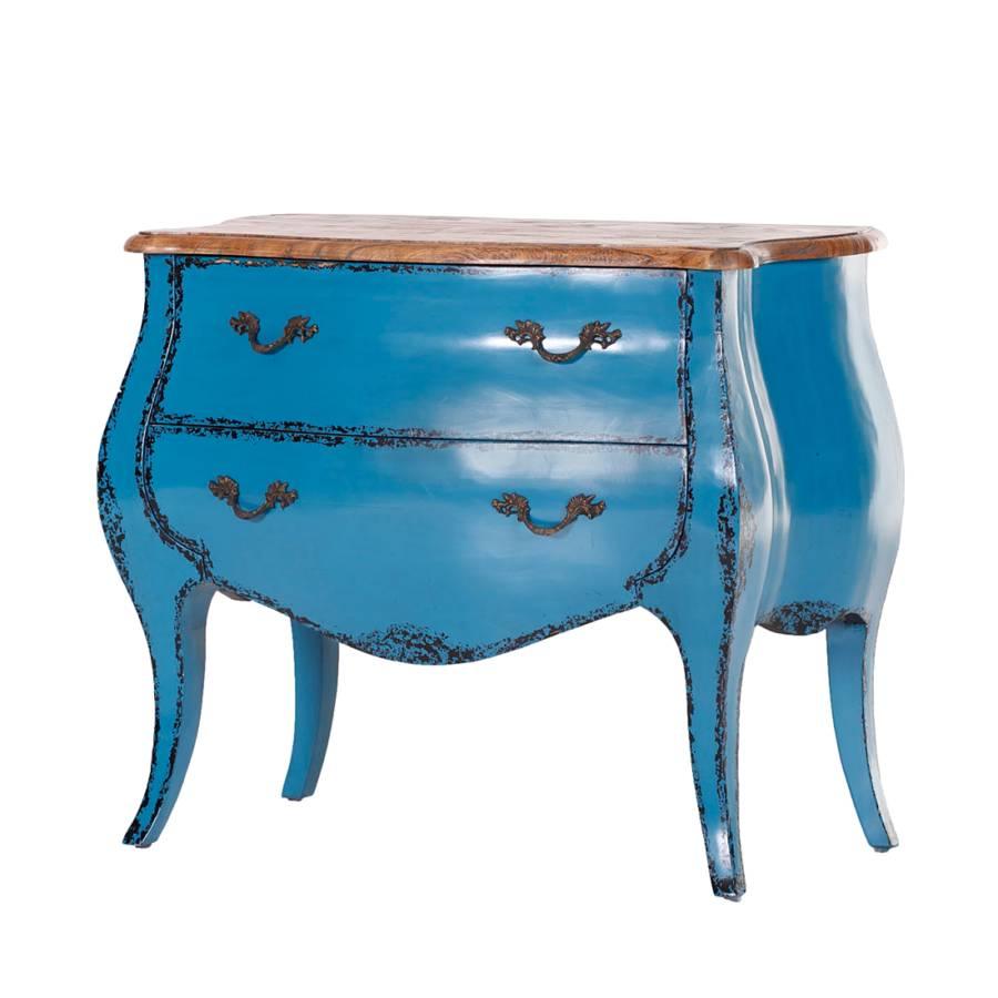commode king bleue. Black Bedroom Furniture Sets. Home Design Ideas