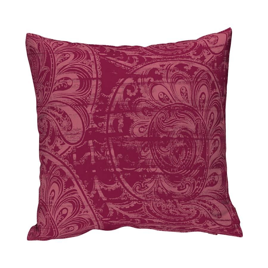 housse de coussin motifs rouges bordeaux. Black Bedroom Furniture Sets. Home Design Ideas