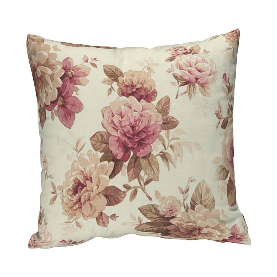 kissenh lle bordeaux beige rosen home24. Black Bedroom Furniture Sets. Home Design Ideas
