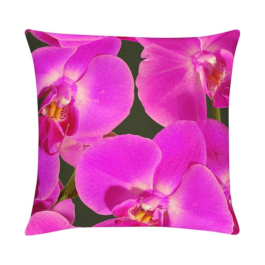Housse de coussins orchidee violet - Housse de coussin violet ...