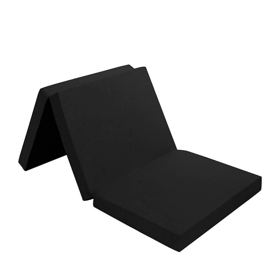 klappmatratze 190 cm aus schaumstoff inkl tragetasche schwarz home24. Black Bedroom Furniture Sets. Home Design Ideas
