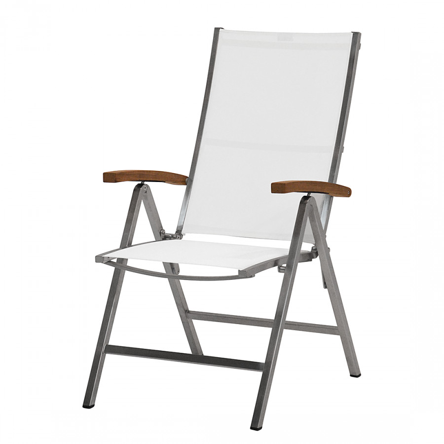 Chaise pliante lux acier inoxydable batyline teck - Chaise pliante teck ...