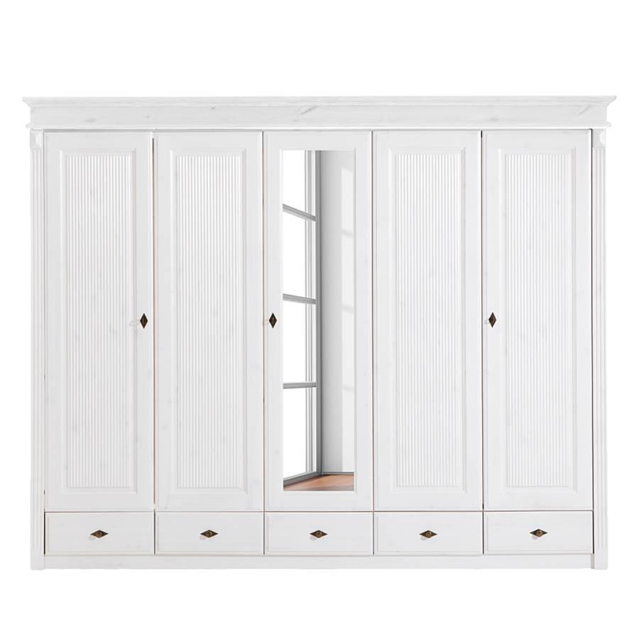 Schlafzimmer Kiefer Massiv Weis Gebeizt : ... Cenan V - Kiefer massiv - Weiß gebeizt & lackiert - 1 Spiegel