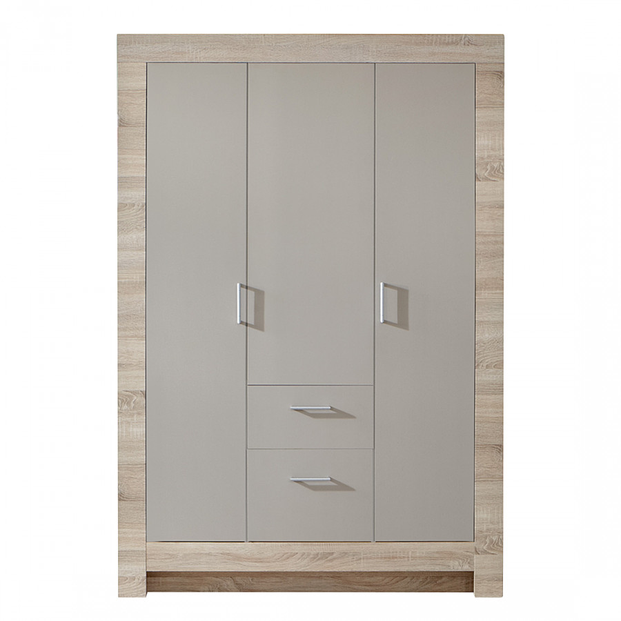armoire v tements letizia ch ne brut de sciage couleur sable gris largeur 90 cm. Black Bedroom Furniture Sets. Home Design Ideas