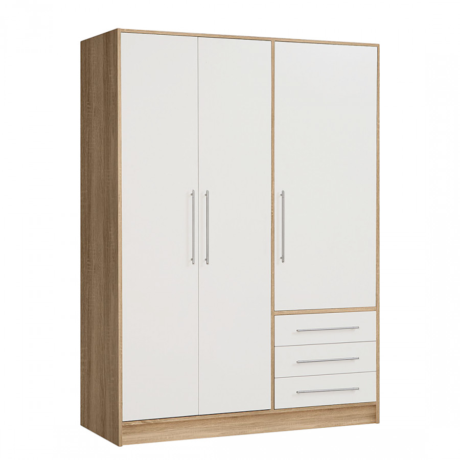 armoire v tements torrent ch ne sonoma blanc. Black Bedroom Furniture Sets. Home Design Ideas