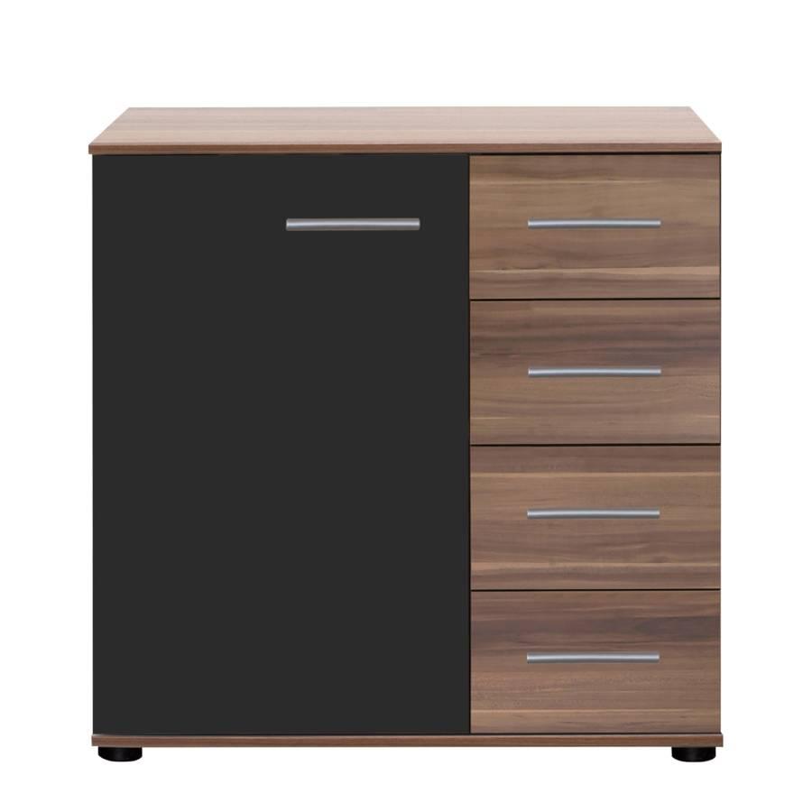 kombikommode nora franz sisch nussbaum schwarz home24. Black Bedroom Furniture Sets. Home Design Ideas