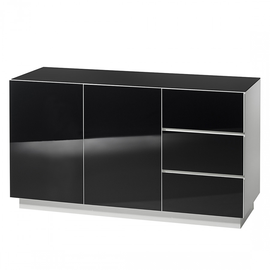 kommode glawa vi wei schwarz home24. Black Bedroom Furniture Sets. Home Design Ideas