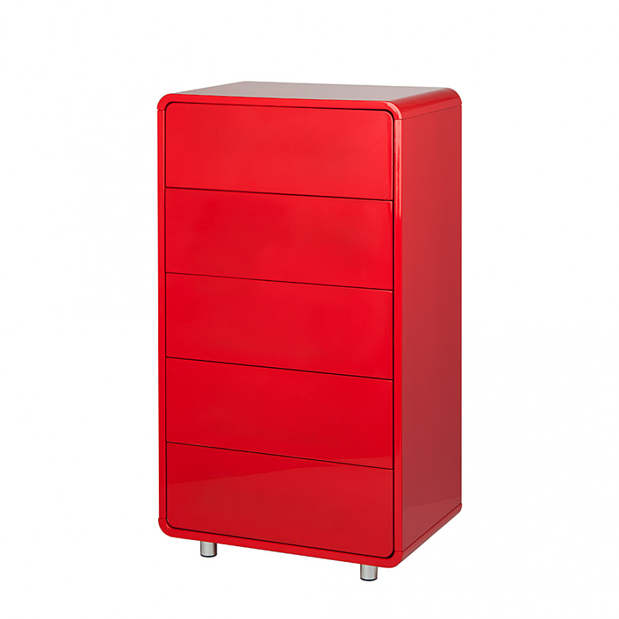 kommode kasy 3 hochglanz rot home24. Black Bedroom Furniture Sets. Home Design Ideas