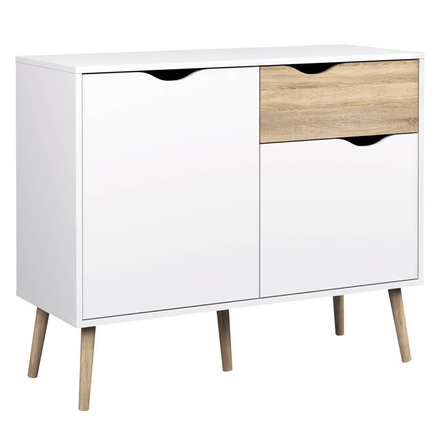 kommode sunndal eiche teilmassiv home24. Black Bedroom Furniture Sets. Home Design Ideas