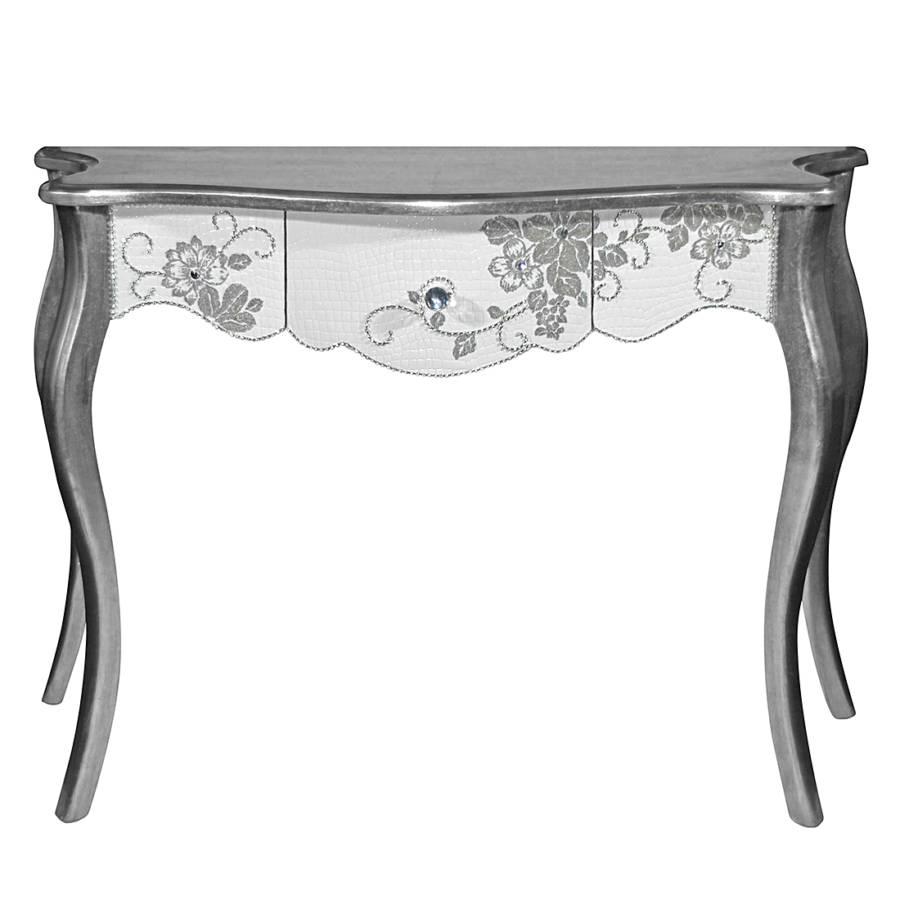 konsolentisch cristallo silber wei home24. Black Bedroom Furniture Sets. Home Design Ideas