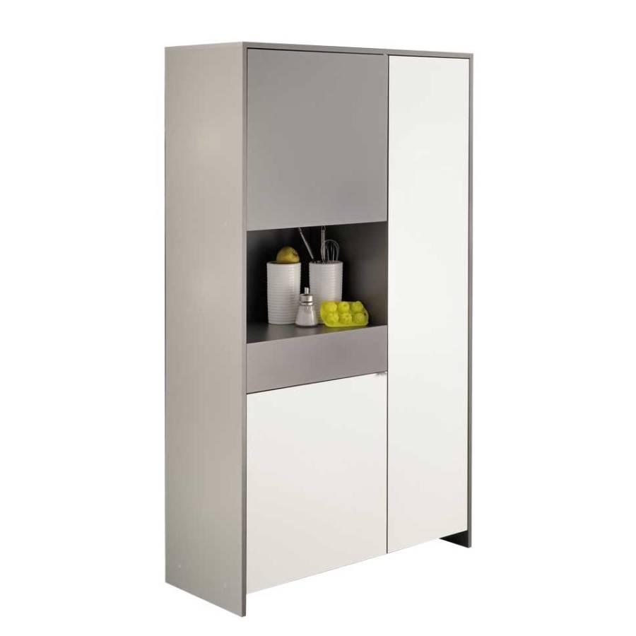 k chenschrank evening wei grau home24. Black Bedroom Furniture Sets. Home Design Ideas