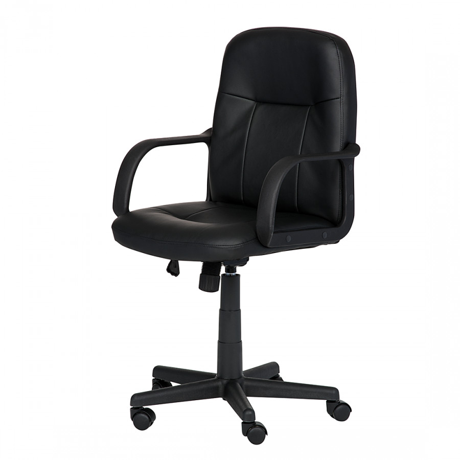 Fauteuil de direction larry cuir noir bon prix for Prix fauteuil