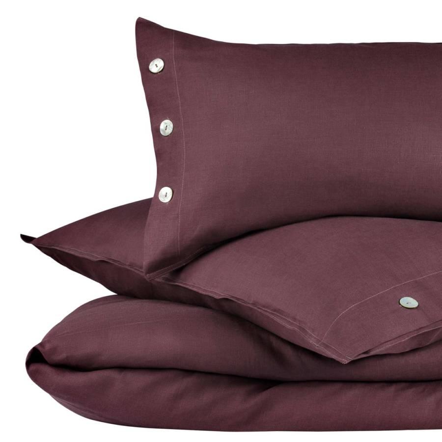leinen bettw sche bellvis weinrot home24. Black Bedroom Furniture Sets. Home Design Ideas