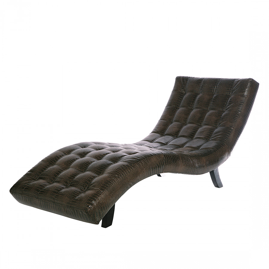 Chaise longue de relaxation lucas cuir synth tique - Chaise de relaxation ...