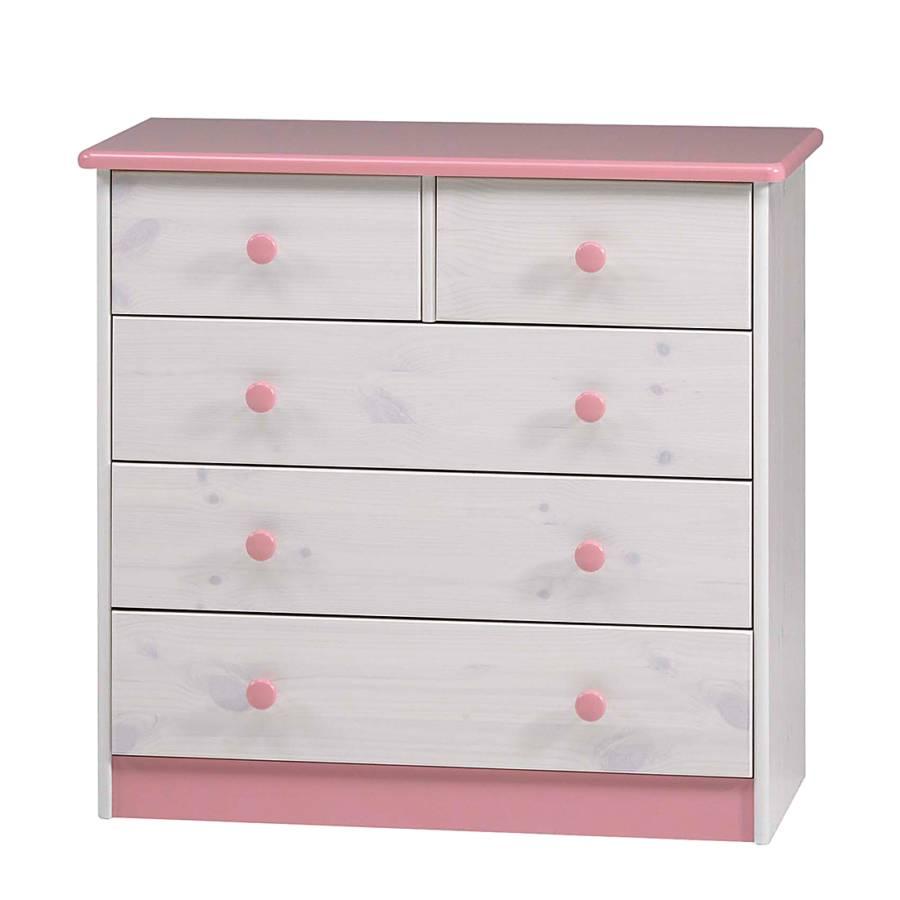 wendy kommode i kiefer massiv wei rosa. Black Bedroom Furniture Sets. Home Design Ideas