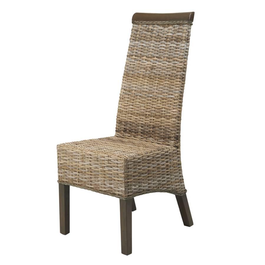 Chaise berlin lot de 6 kubu gris taupe - Chaise kubu gris ...