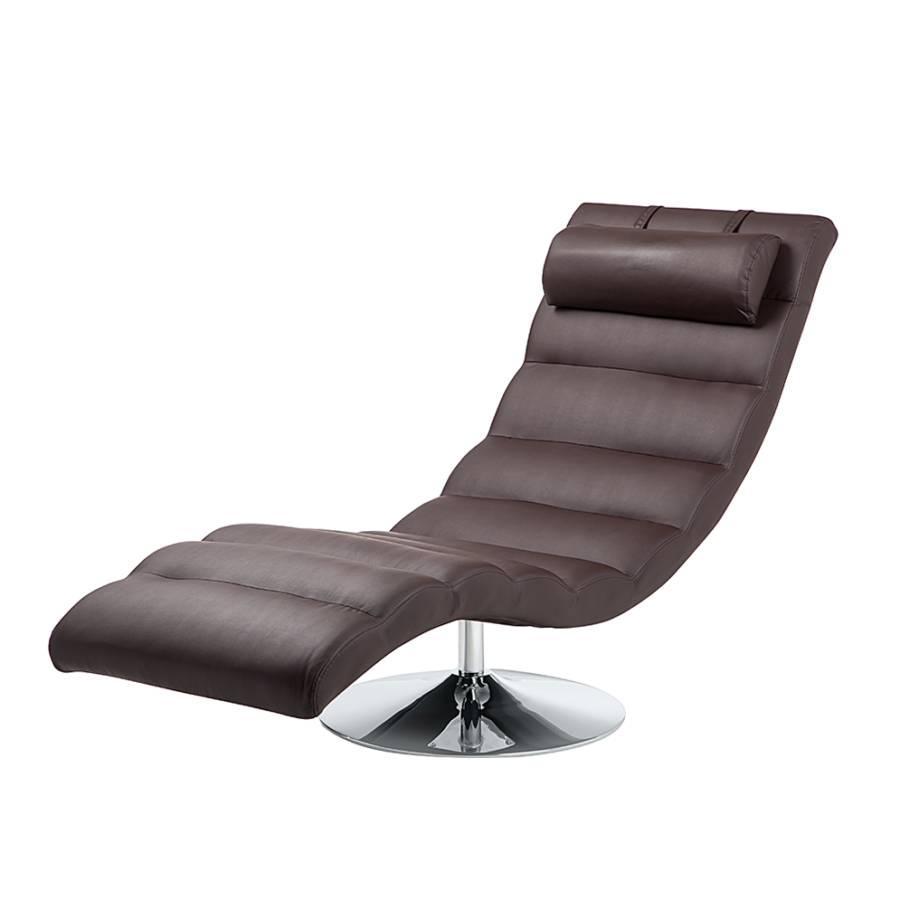 relaxliege yves kunstleder braun. Black Bedroom Furniture Sets. Home Design Ideas