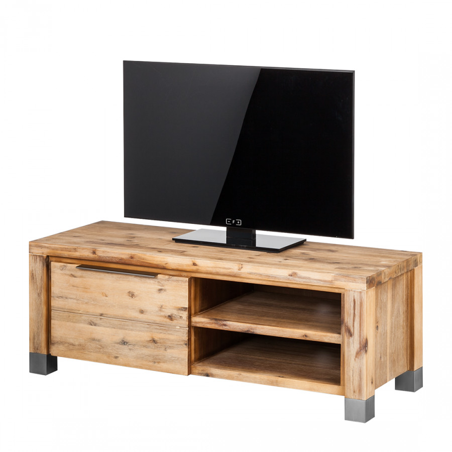 buffet bas tv delia bois massif acacia couleur sable. Black Bedroom Furniture Sets. Home Design Ideas