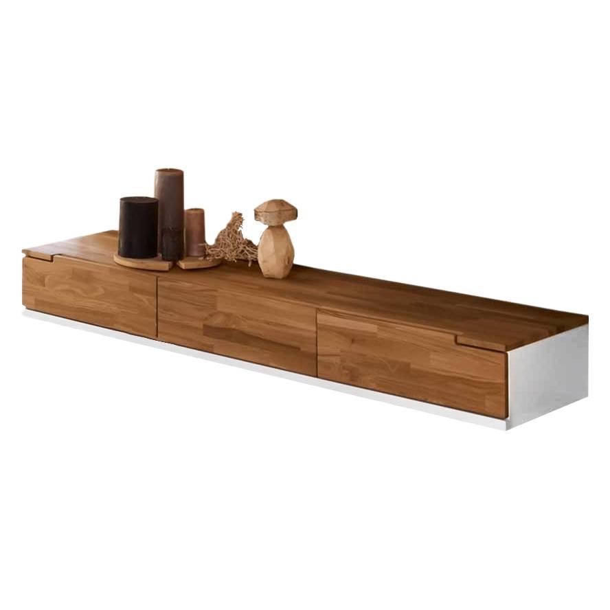 ... Mantua - Eiche Massivholz/Holzwerkstoff - Natur lackiert/Wei?