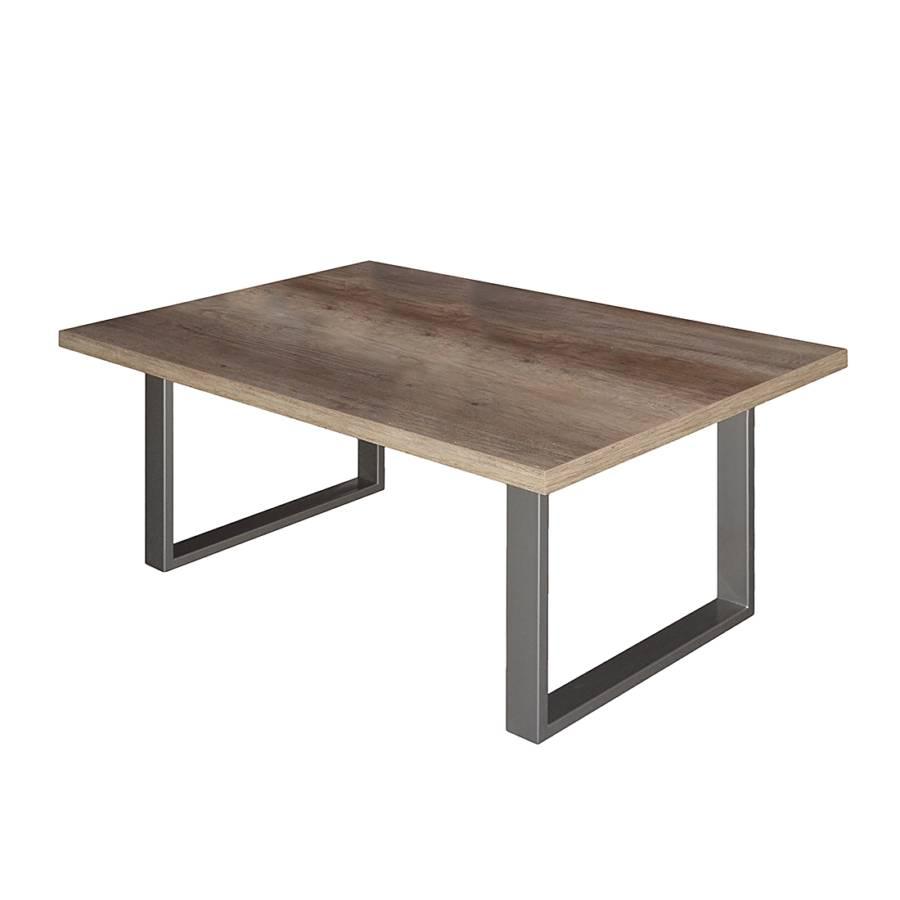 table basse leaf imitation ch ne sauvage gris truffe. Black Bedroom Furniture Sets. Home Design Ideas
