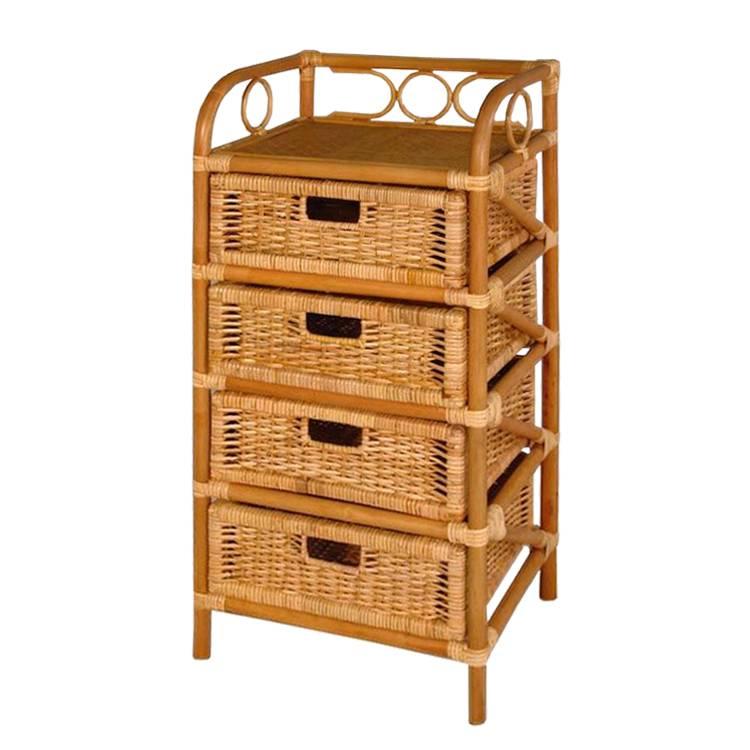 regal martigues aus rattan 4 schubladen home24. Black Bedroom Furniture Sets. Home Design Ideas