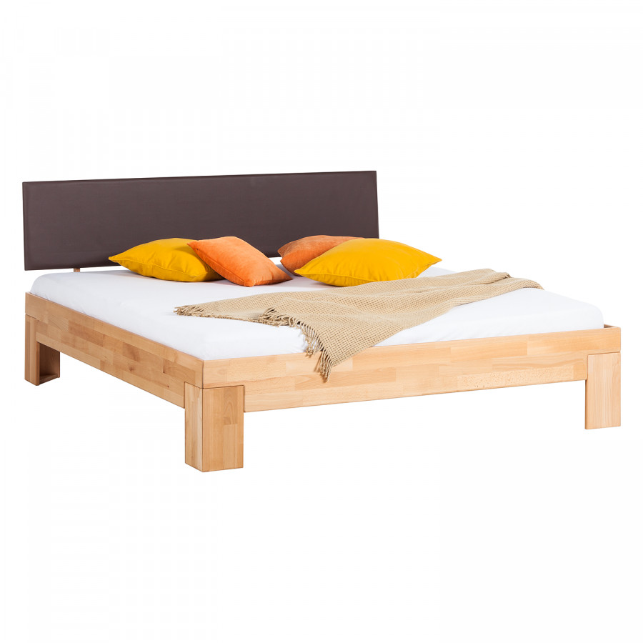 Massief houten bed mapuawood - Massief houten platform bed ...