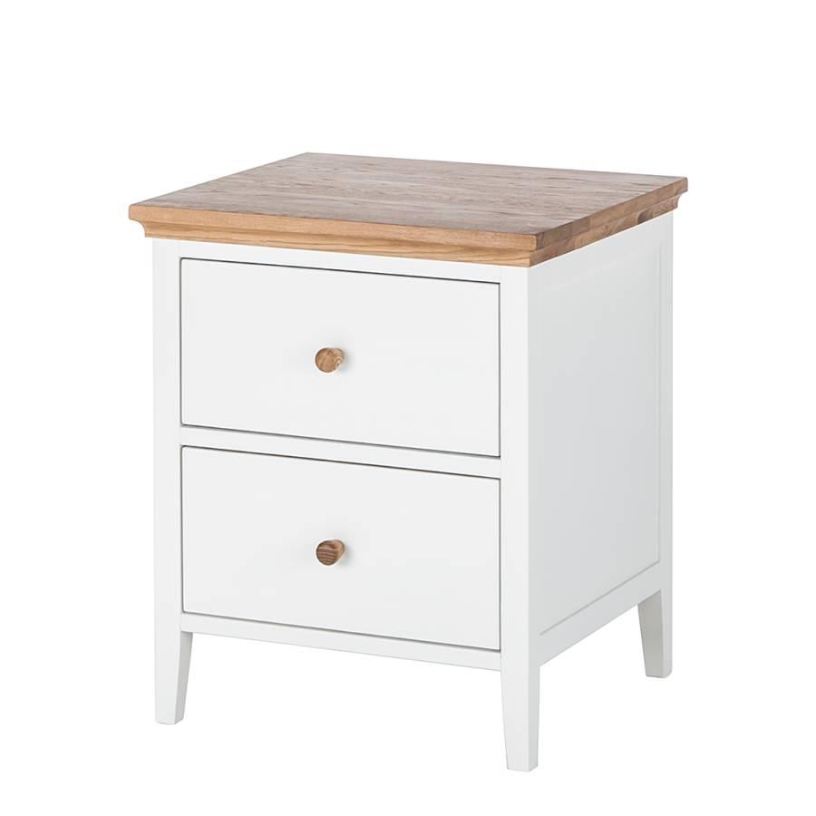 Table de nuit celeste blanc vernis couleur miel for Table de nuit blanc