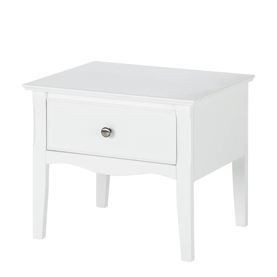 nachtkommode giselle in zeitlosem wei home24. Black Bedroom Furniture Sets. Home Design Ideas