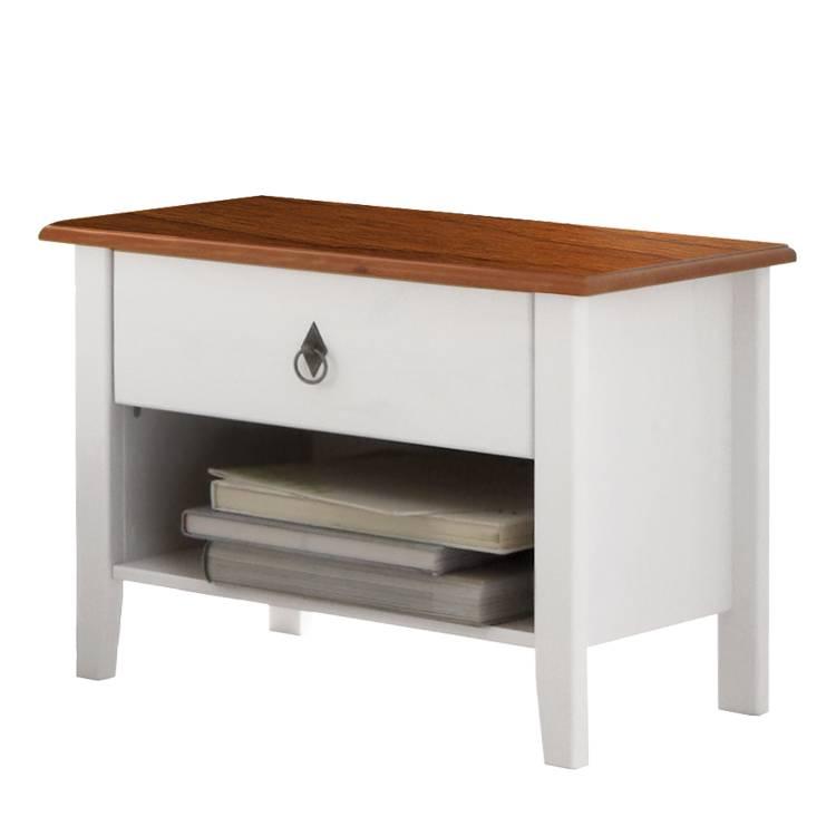 Table de nuit korsika blanc couleur d 39 ambre - Table de nuit blanc ...