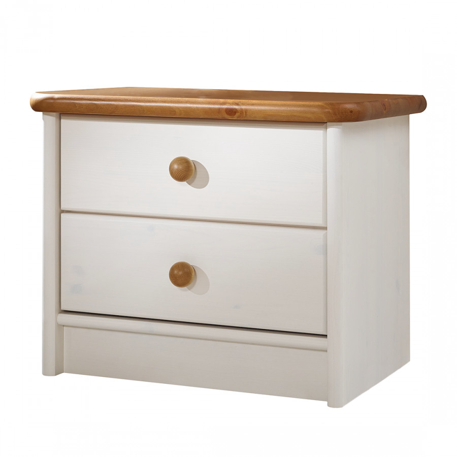 Table de chevet valga pin massif blanc - Table de chevet pin massif ...