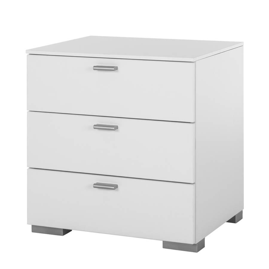 commode de nuit nako gallery blanc bon prix en ligne. Black Bedroom Furniture Sets. Home Design Ideas