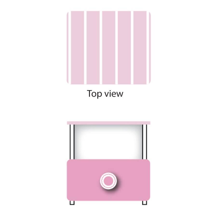 Nachttisch cupcake wei rosa for Home24 nachttisch