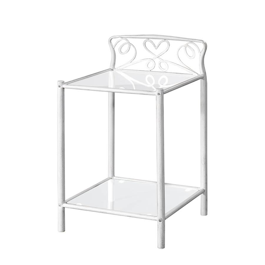 Table de nuit toscana blanc vieilli for Table de nuit blanc