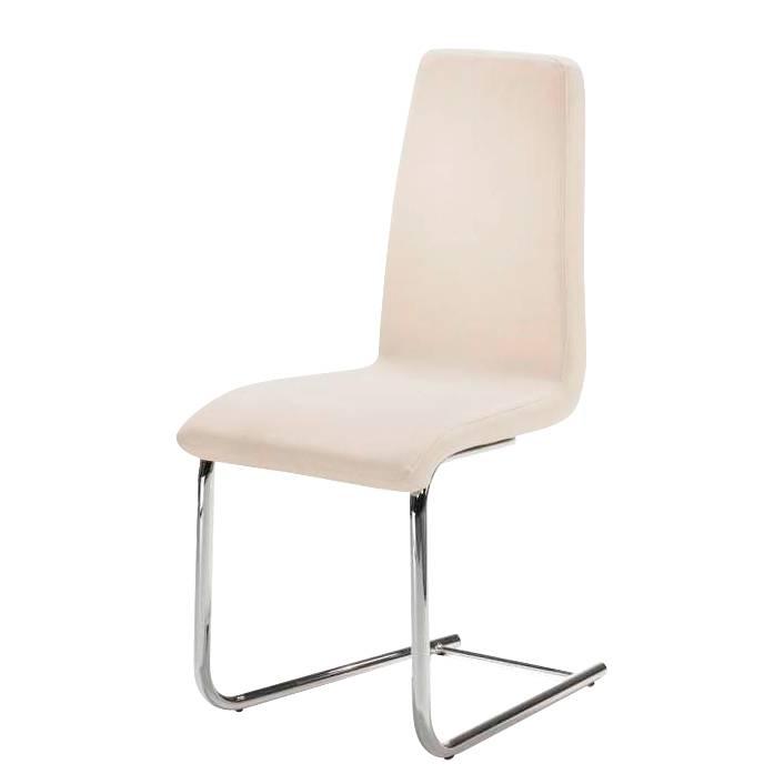 schwingstuhl nerea lederlook creme metallgestell. Black Bedroom Furniture Sets. Home Design Ideas
