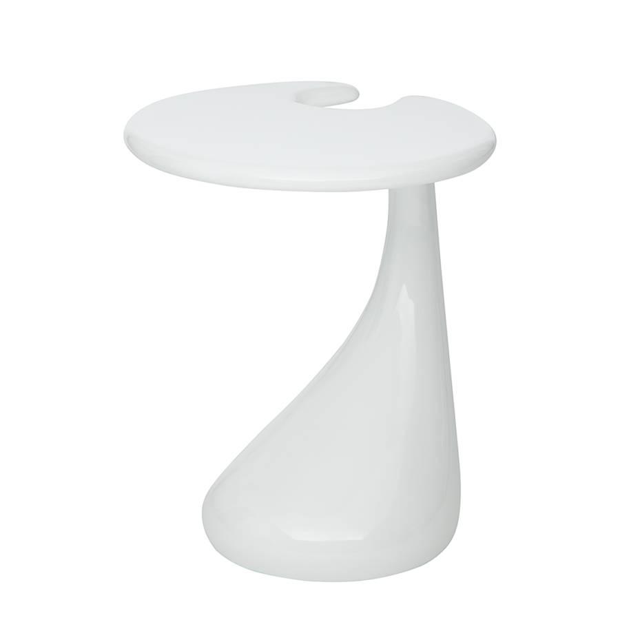 Bijzettafel nice wit for Ladeblok voor zweefdeurkast