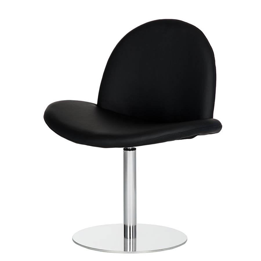 Fauteuil lounge norman cuir noir bon prix en ligne - Fauteuil lounge cuir ...