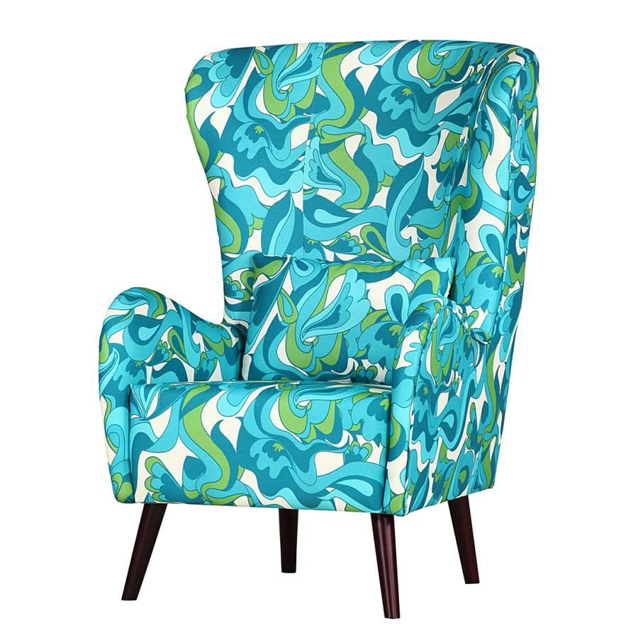 fauteuil oreilles alfie tissu turquoise. Black Bedroom Furniture Sets. Home Design Ideas
